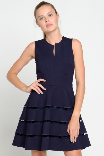 Joana Danciu - Kleid - Grace - navy- blue